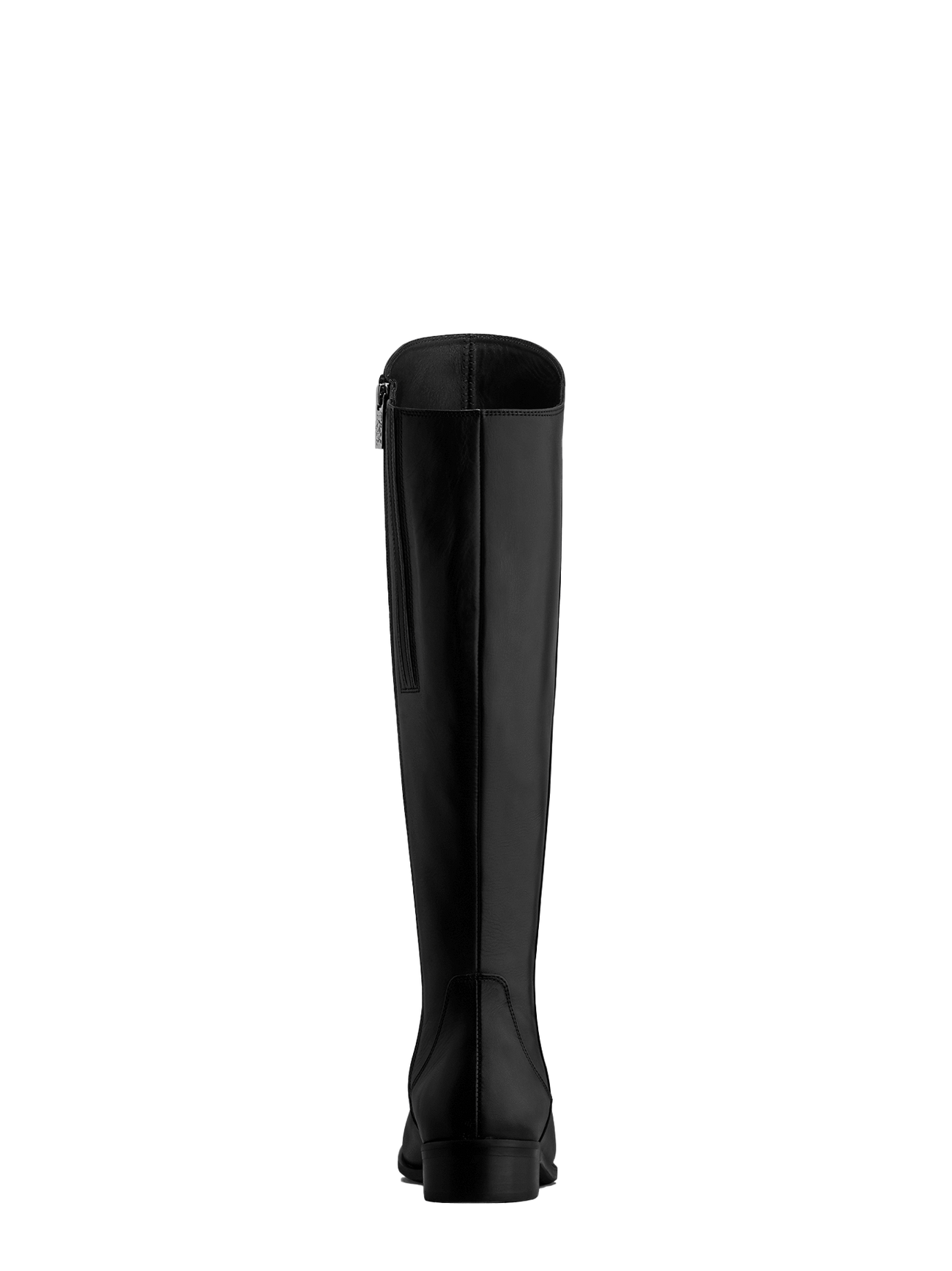 The black Huntsman has a lower asymmetric cut at the back of the boot.