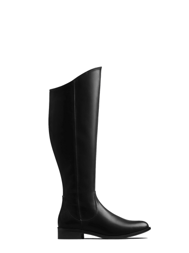 Huntsman - a classic black leather knee high riding boot.