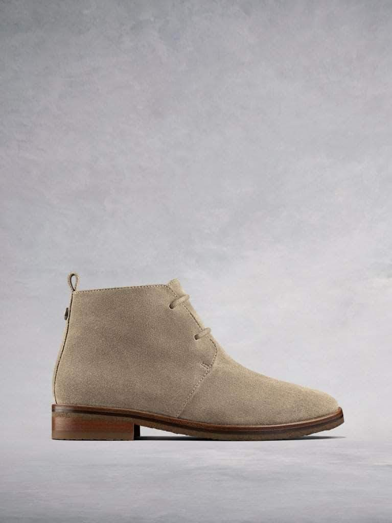 Juliete - an everyday taupe suede lace-up desert boot.