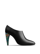 Kingsmead - an elegant shoe bootie with a flattering cut and coloured heel.