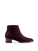 Ludlow, our versatile everyday purple suede ankle boot with stud detail.