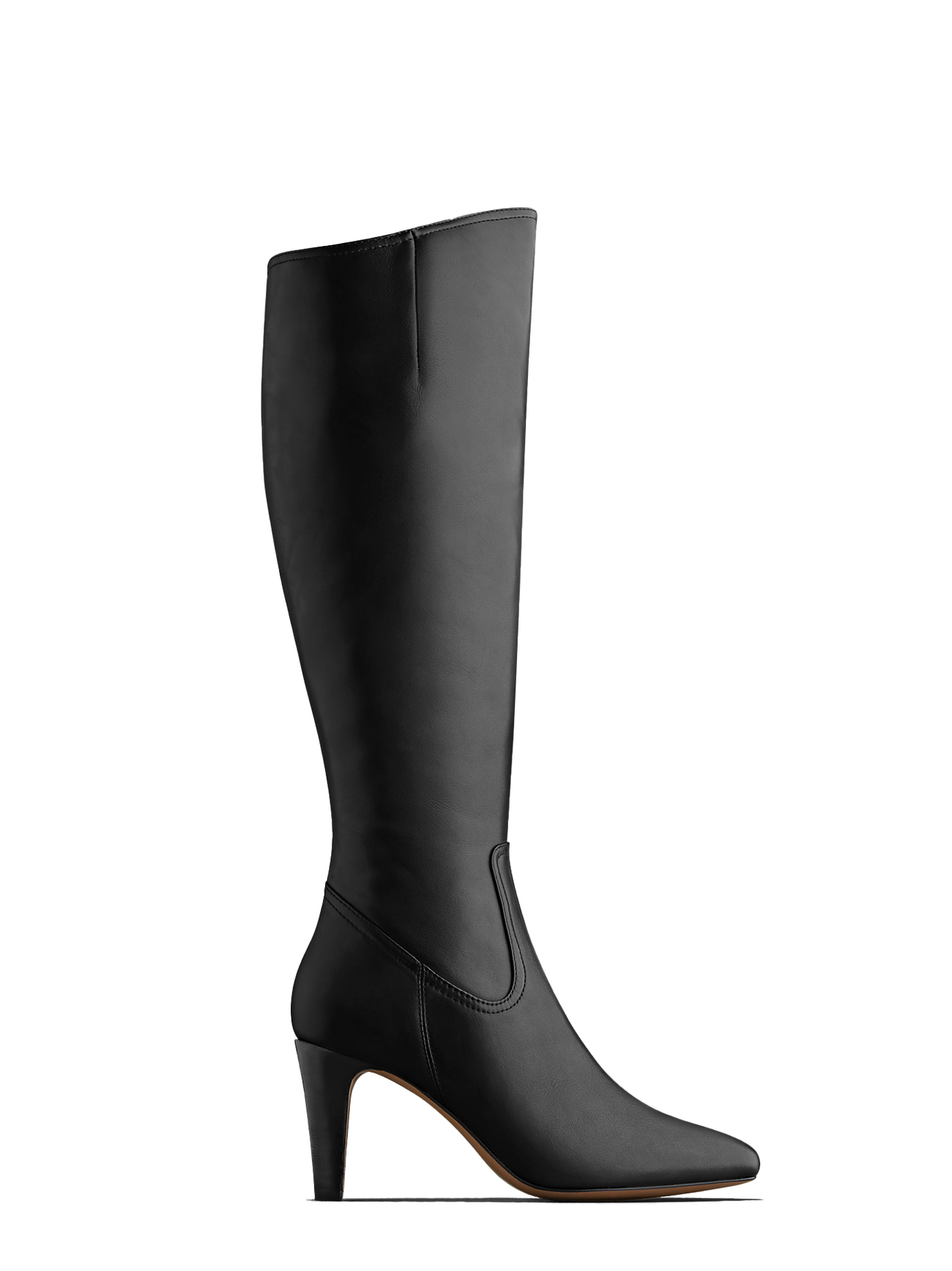 Luxor, a versatile and timeless high heeled black leather boot.