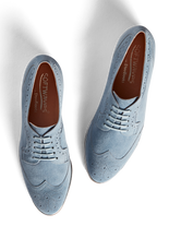 Mullion brogue has a padded in sock and pink leather lining for extra comfort.
