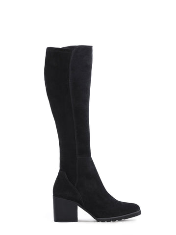 Optical Black Suede - Pointed boot set on lightweight EVA sole - web exclusive.