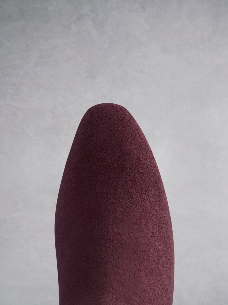 Parkhurst Burgundy Suede - High-heeled suede over-the-knee boots.