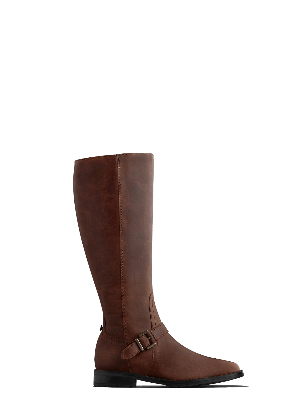 Sherwood - the ultimate knee high brown leather biker style boot.