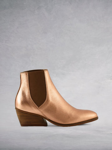 Texas Rose Gold Leather - A classic Chelsea boot updated for modern daywear.