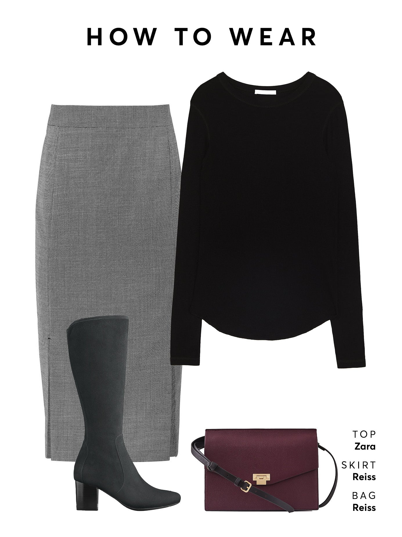 Wear with a pencil skirt and blouse or jumper for effortless workwear.