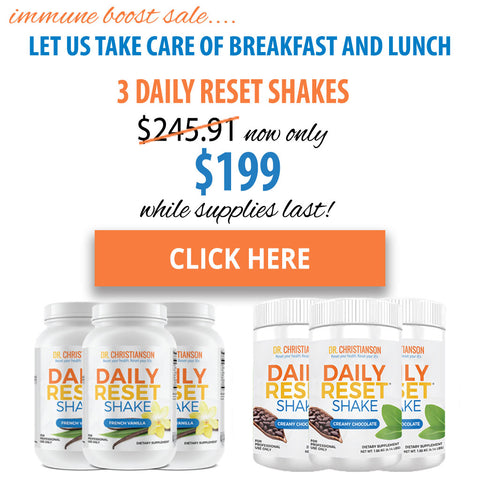 3 Daily Reset Shake Immune Boost Sale
