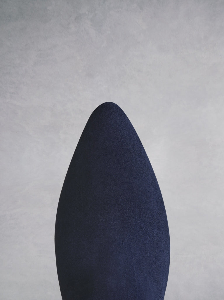 Breedon in navy has a stylish pointed toe and a feminine kitten heel.