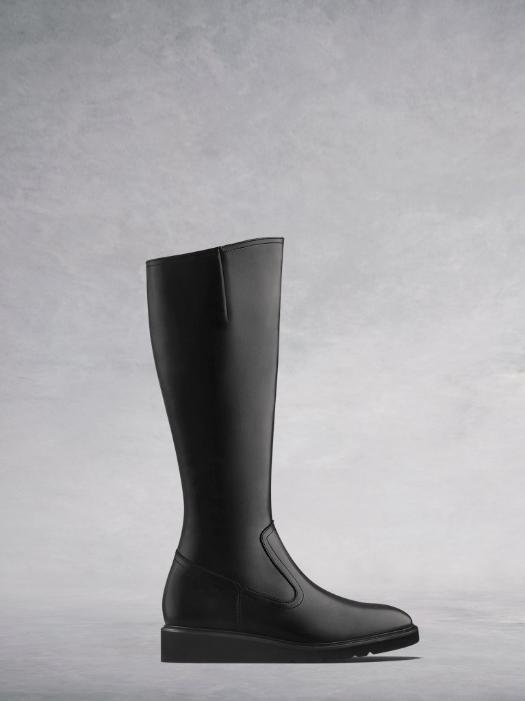 The Musgrave, the everyday comfortable flat black knee high leather boot.