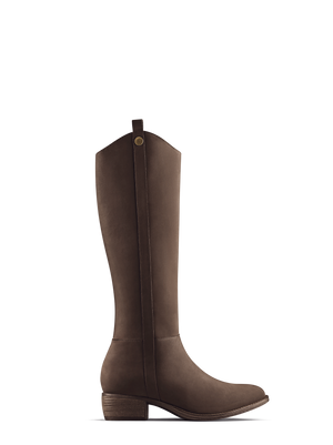 Rydal Light Brown Nubuck - Western-inspired, nubuck knee high boots