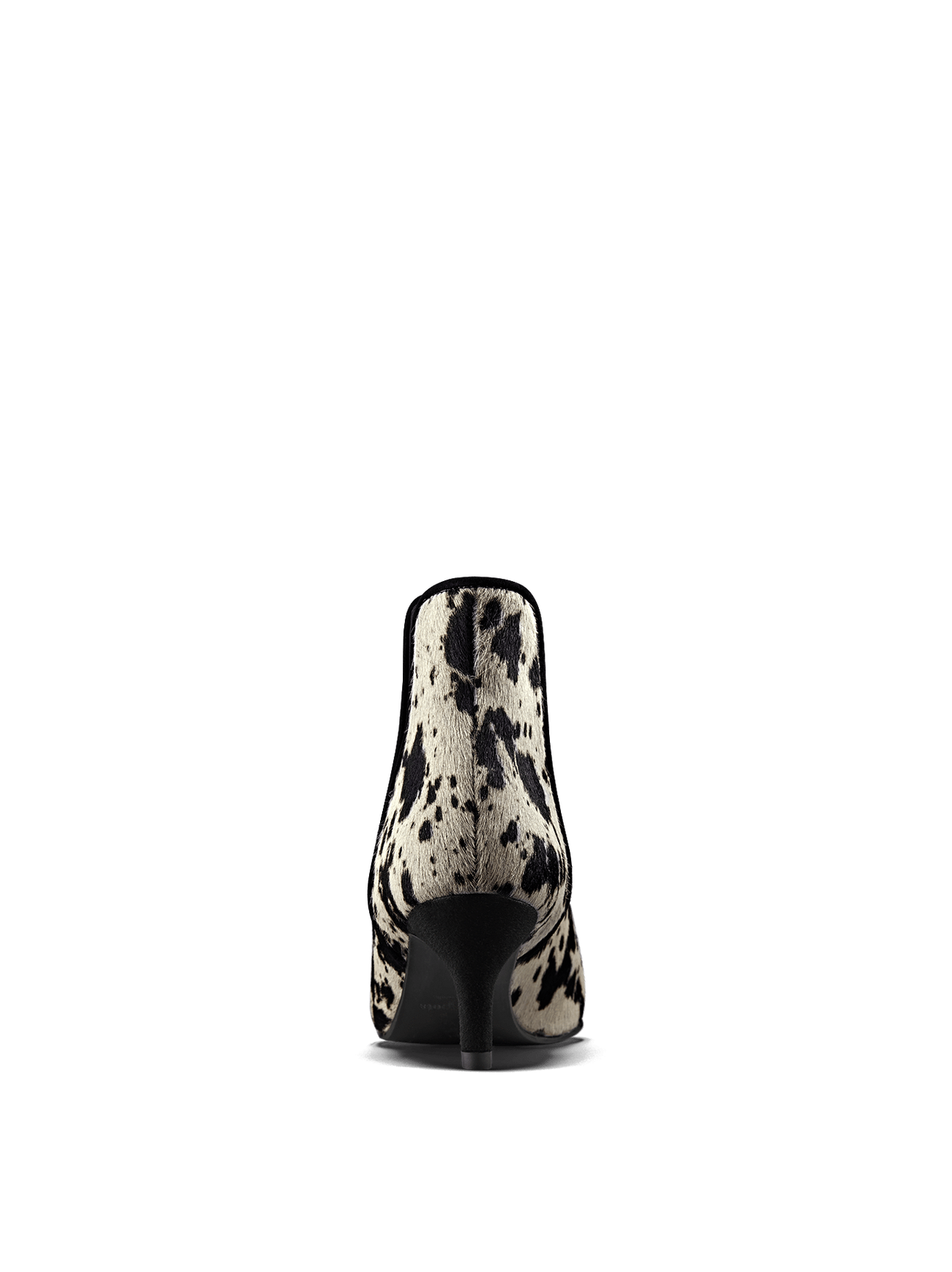 The kitten heel on Somerton in cow print leather will take you from day to night.
