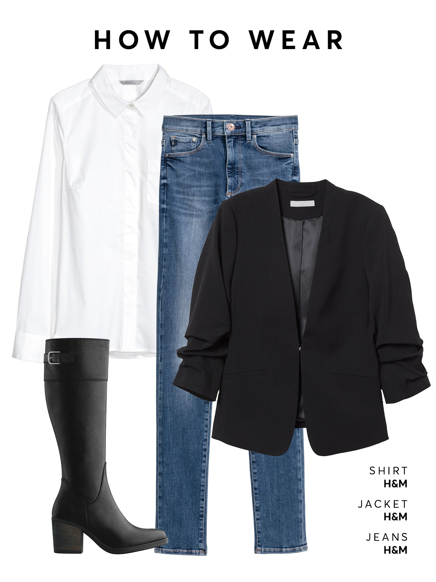 Wear with denim jeans, a white shirt and blazer.