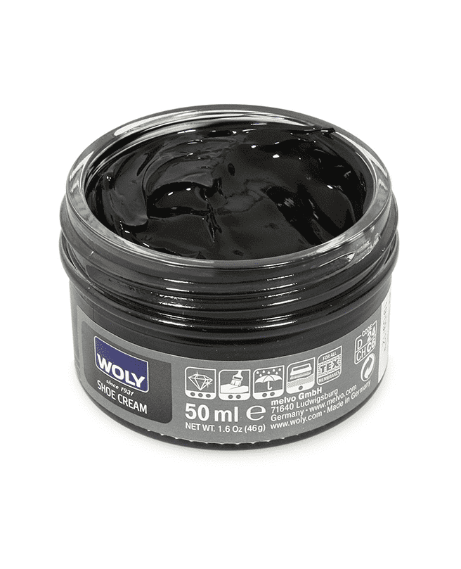 Colour freshening conditioning cream for all kinds of smooth black leather.
