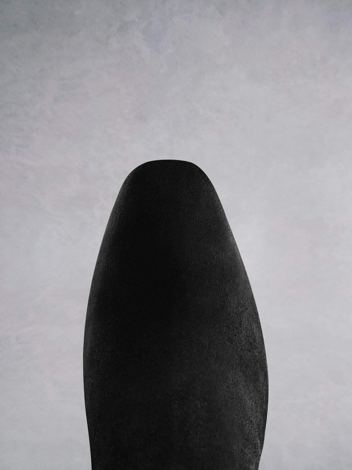 Amery, made from luxurious black suede with a chiselled almond toe shape.