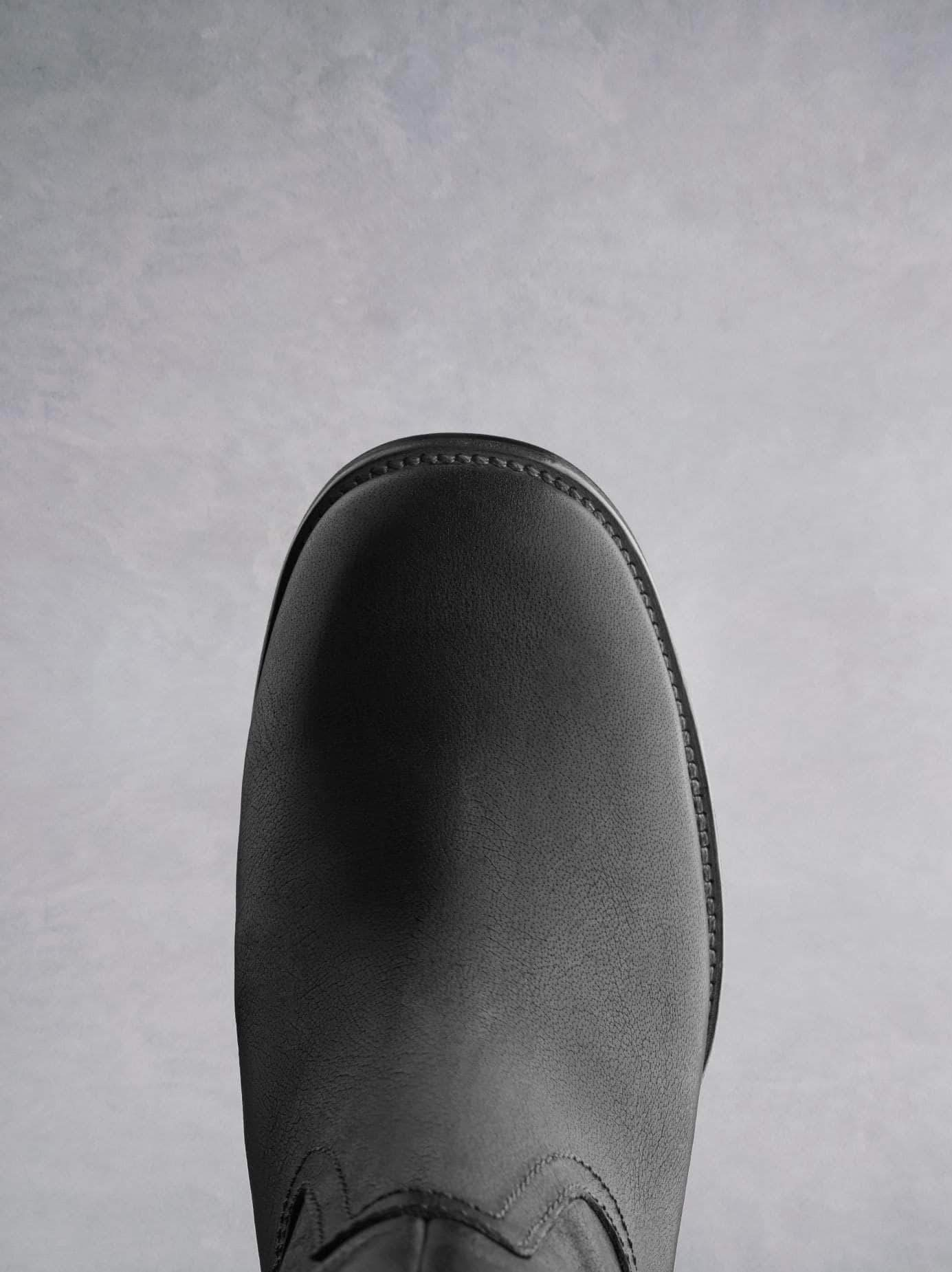 Brampton has a comfortable round toe and sturdy sole.