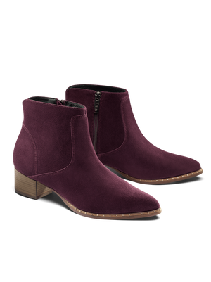 Ludlow Mulberry Purple Suede - Easy-to-wear suede ankle boot