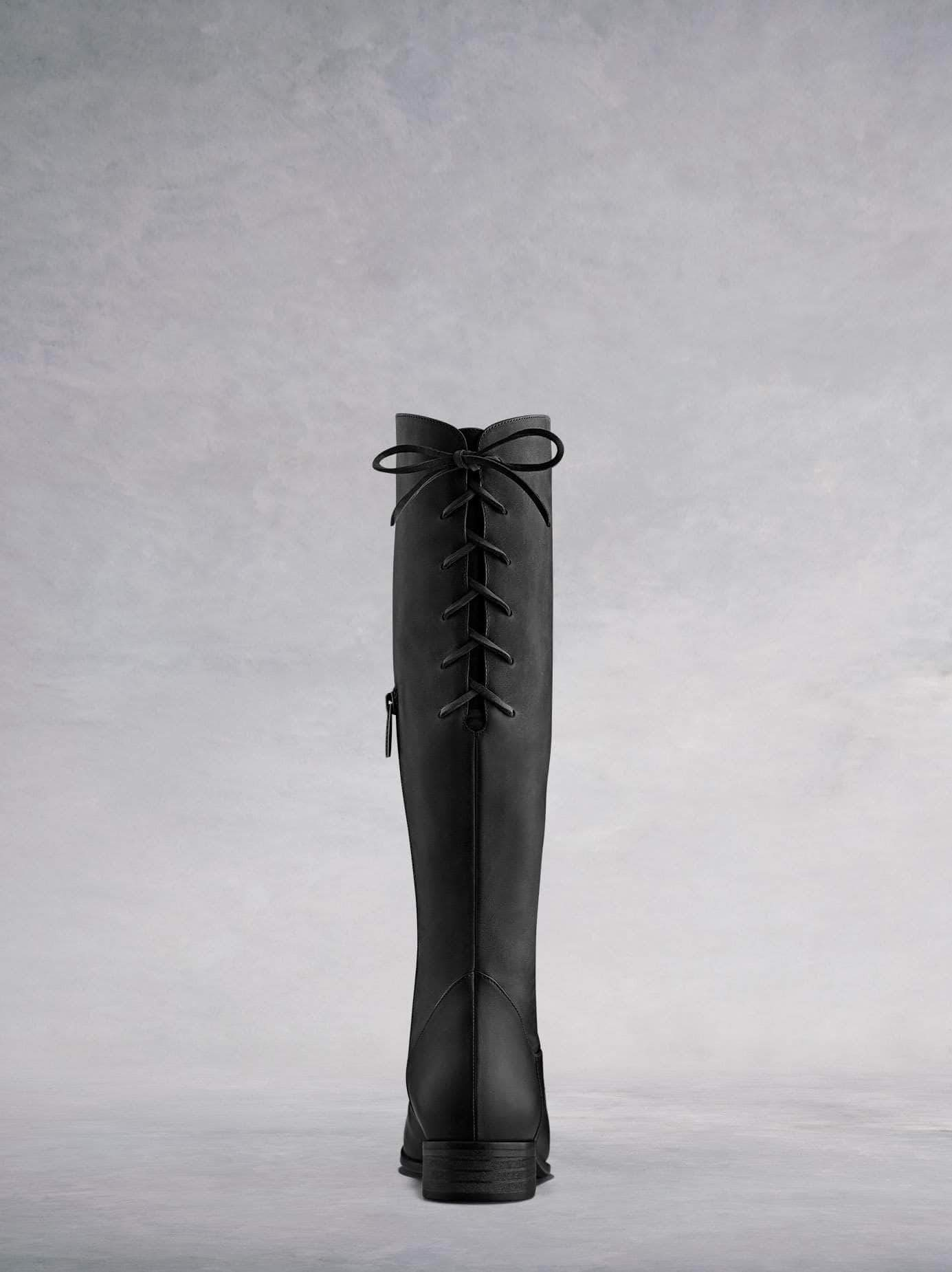 Featuring lace up detailing at the back of the boot for a truly flawless fit.