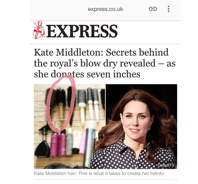 IBIZA HAIR BRUSHES - FIT FOR ROYALTY? Kate Middleton thinks so!