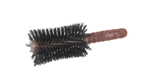 Ibiza Hair RLX5 Hair Brush with a red extended cork handle and swirled reinforced boar bristles. For sale and delivery in Ireland and Europe.