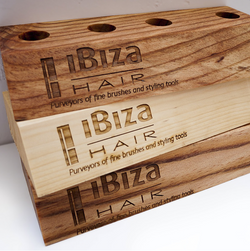 Ibiza Hair Wooden Brush Stand - Mixed Wood