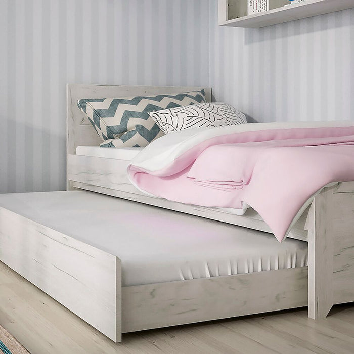 Beds, FTG, Angel White Oak Effect Bed with Underbed Drawer - Single - from thebeddingbox.co.uk