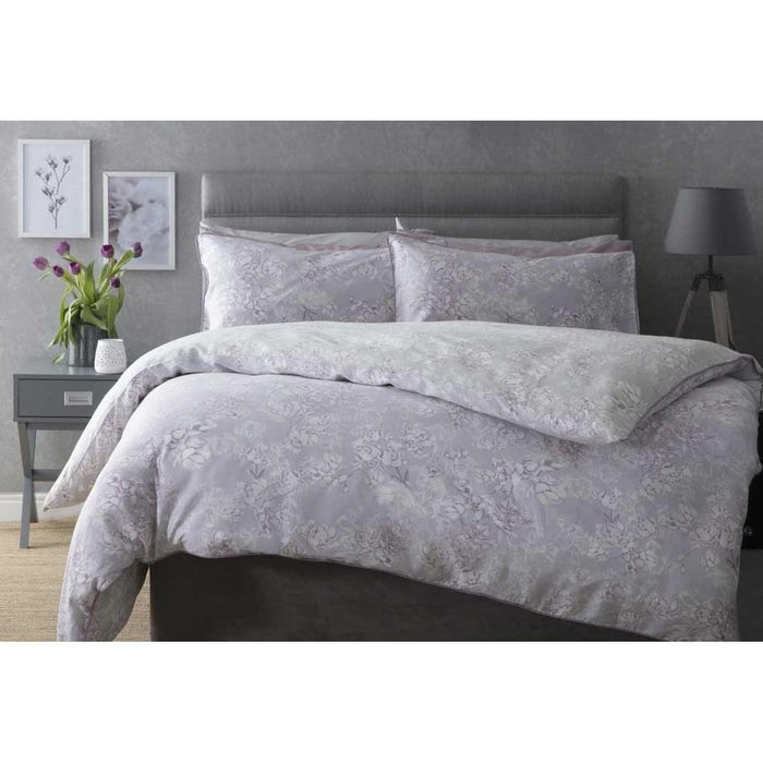 Duvet Cover, Belledorm, Belledorm Mila Charcoal Duvet Cover Set - from thebeddingbox.co.uk