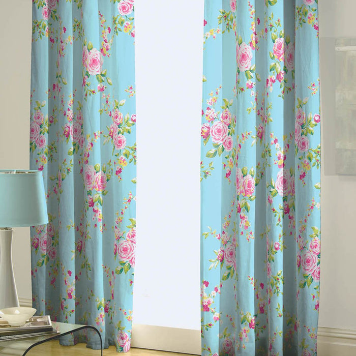 Curtains, Catherine Lansfield, Catherine Lansfield Canterbury Curtains - 66x72 Inches (168x183cm) - from thebeddingbox.co.uk
