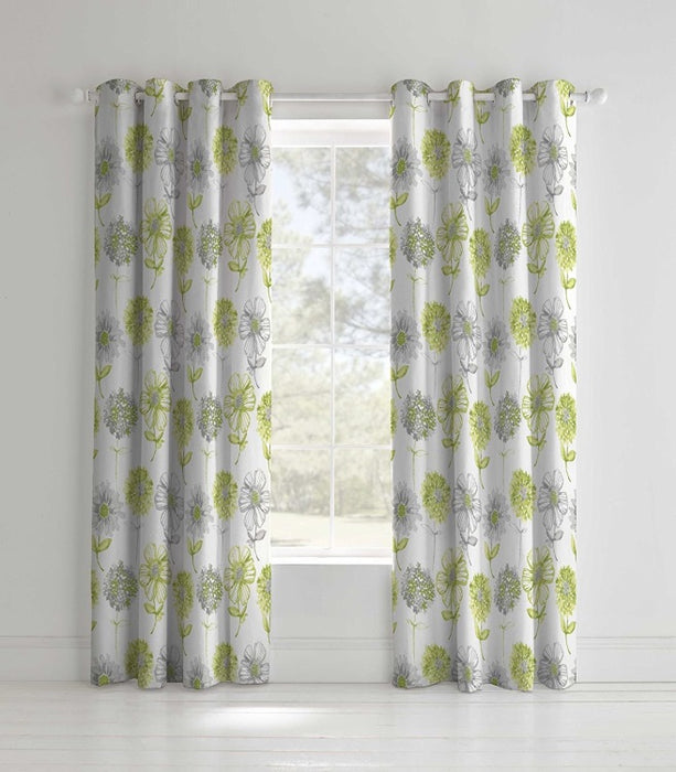 Curtains, Catherine Lansfield, Catherine Lansfield Banbury Floral Eyelet Curtains - from thebeddingbox.co.uk