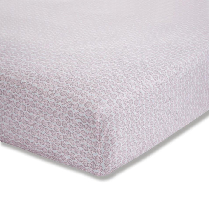 Kids Duvet Cover, Bianca Cotton Soft, Little Bianca Cotton Soft Ditsy Cotton Print Blush Fitted Sheet - from thebeddingbox.co.uk