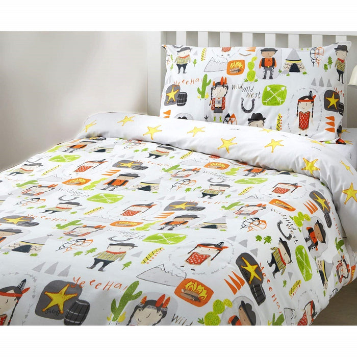 Kids Duvet Cover, Bedlam, Bedlam Cowboys & Indians Duvet Cover Set - from thebeddingbox.co.uk