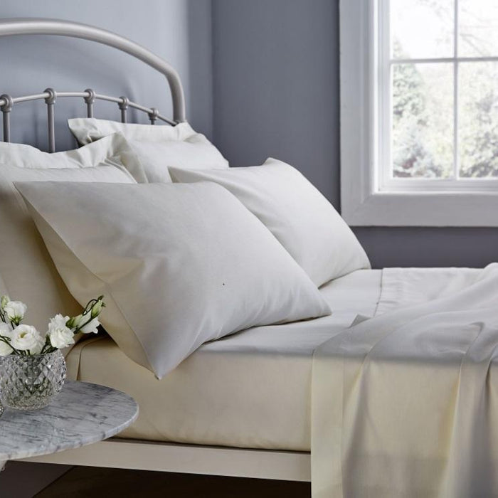 Housewife, Catherine Lansfield, Catherine Lansfield 500 Thread Count Housewife Pillowcase - Pair - from thebeddingbox.co.uk