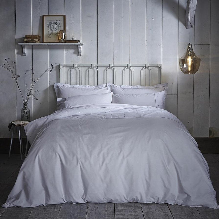 Duvet Cover, Bianca Cotton Soft, Bianca Cotton Soft Casual Spot Grey Duvet Cover Set - from thebeddingbox.co.uk