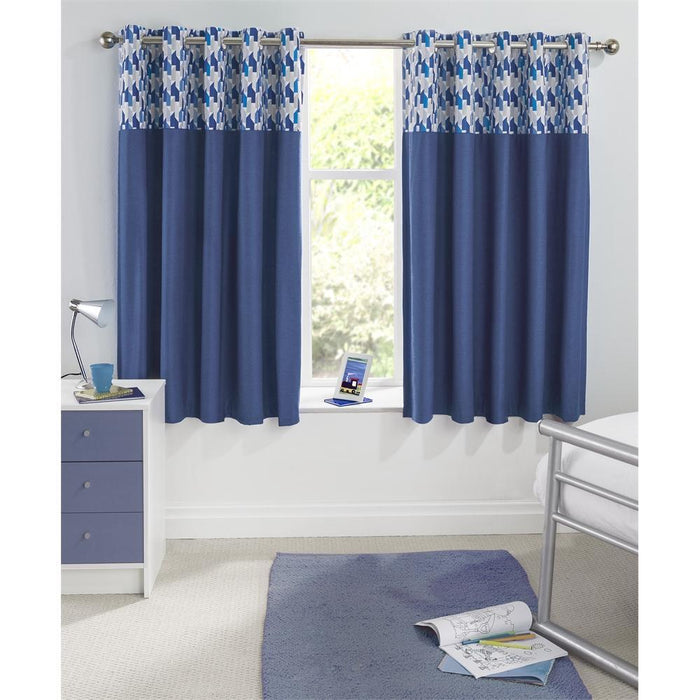 Kids Bedroom Accessories, Enhanced Living, Enhanced Living Vortex Blockout Eyelet Curtains - from thebeddingbox.co.uk