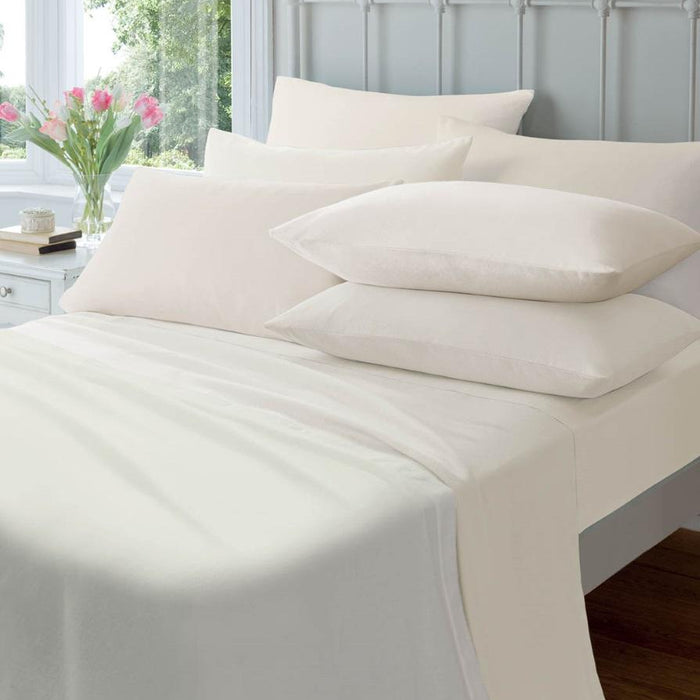 Fitted Sheet, Catherine Lansfield, Catherine Lansfield 145gsm Flannelette Fitted Sheet - from thebeddingbox.co.uk