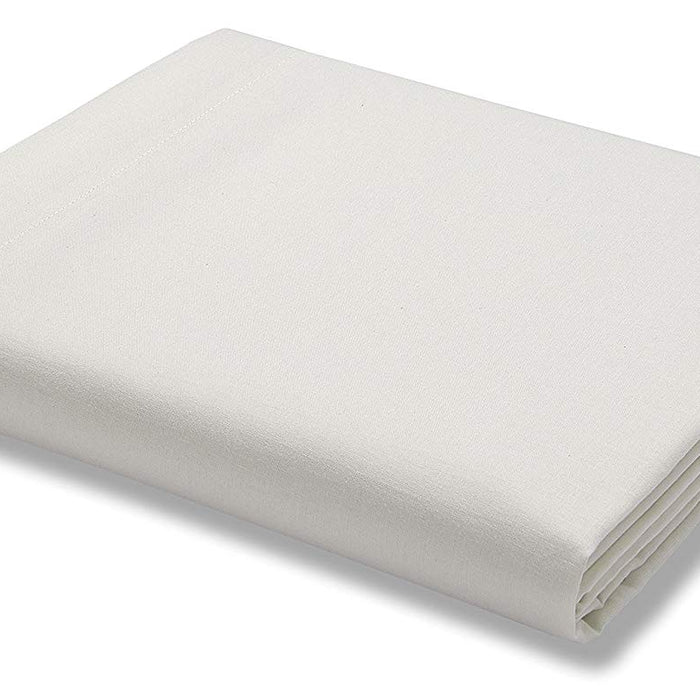 Flat Sheet, The Bedding Box, Catherine Lansfield 500 Thread Count Cream Flat Sheet - Super King - from thebeddingbox.co.uk