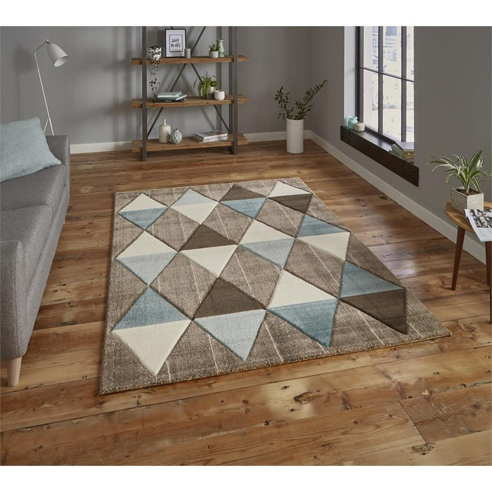 Rugs, Think Rugs, Brooklyn Triangles Rug - from thebeddingbox.co.uk