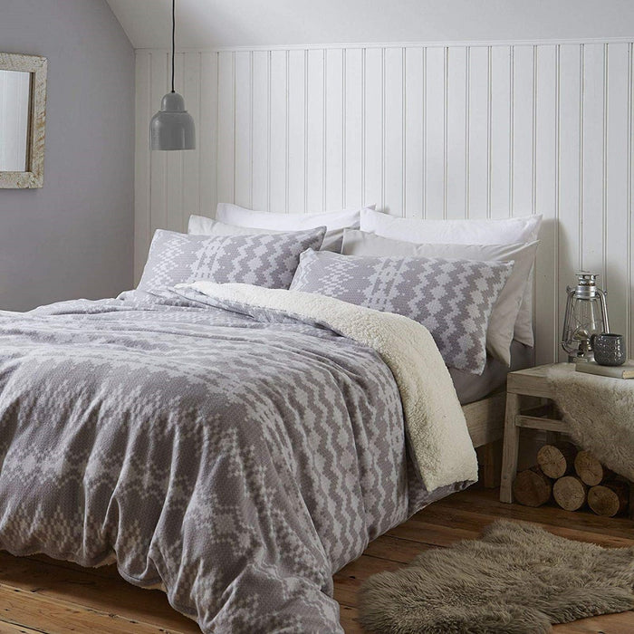 Duvet Covers, Catherine Lansfield, Catherine Lansfield Alpine Fleece Duvet Cover Set - from thebeddingbox.co.uk