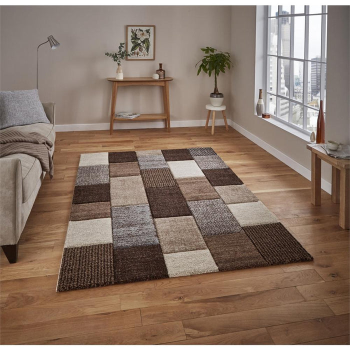 Rugs, Think Rugs, Brooklyn Hand Carved Squares Rug - from thebeddingbox.co.uk