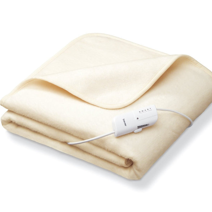 Electric Blankets, Beurer, Beurer Fleece Heated Electric Throw - Cream - from thebeddingbox.co.uk