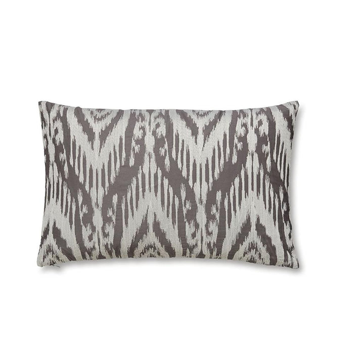 boudoir, Bianca Cotton Soft, Bianca Ikat Weave Boudoir Cushion - Multi-Colour - from thebeddingbox.co.uk