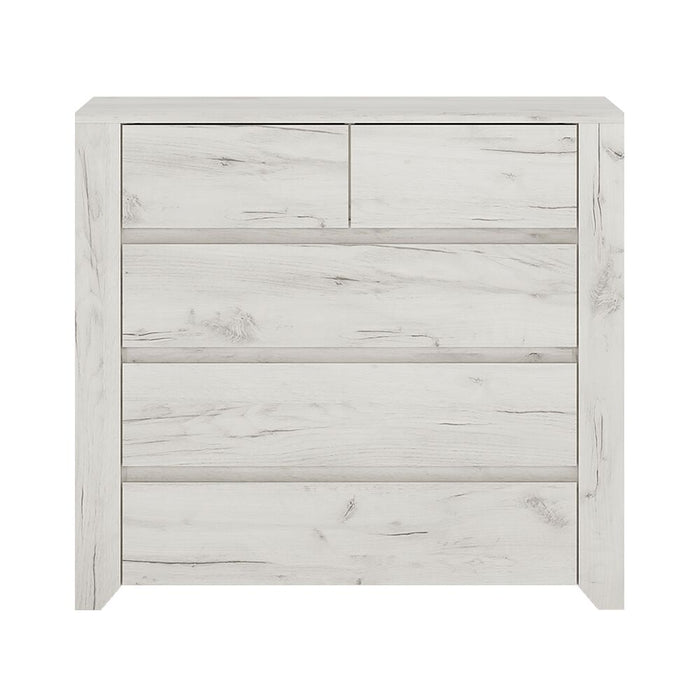 Chest Of Drawers, FTG, Angel 2 + 3 Chest of Drawers - White - from thebeddingbox.co.uk