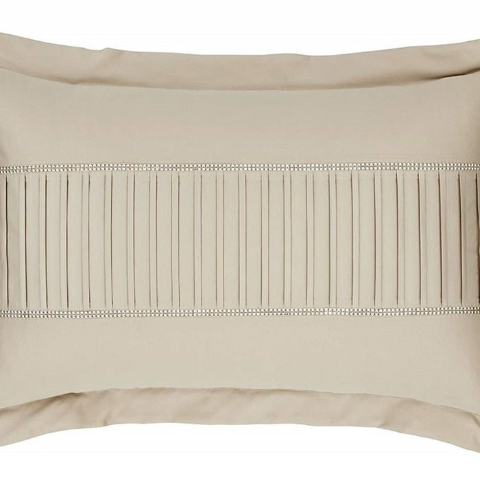 Pillowshams, Catherine Lansfield, Catherine Lansfield Diamante Pleats Pillowsham Gold - from thebeddingbox.co.uk