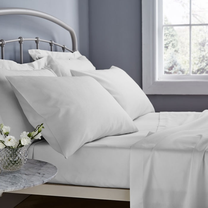 , thebeddingbox, Catherine Lansfield 500 Thread Count White Oxford Pillowcase - from thebeddingbox.co.uk