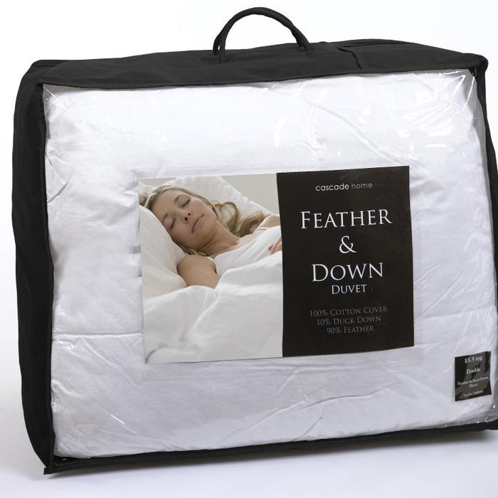 Natural, Cascade Home, All Natural Duck Feather & Down Duvet 4.5tog - from thebeddingbox.co.uk