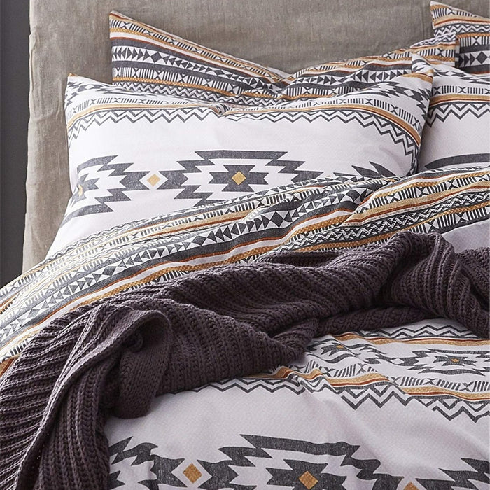 Duvet Cover, Catherine Lansfield, Catherine Lansfield Aztec Duvet Cover Set - from thebeddingbox.co.uk