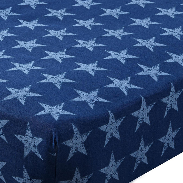 Kids Duvet Cover, Turner Bianca Plc, Catherine Lansfield Kids Stars & Stripes Fitted Sheet - from thebeddingbox.co.uk