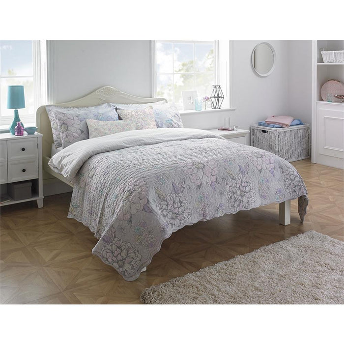 Bedspreads, Riva Home, Riva Home Flora Pastel Bedspread - 240x260cm - from thebeddingbox.co.uk