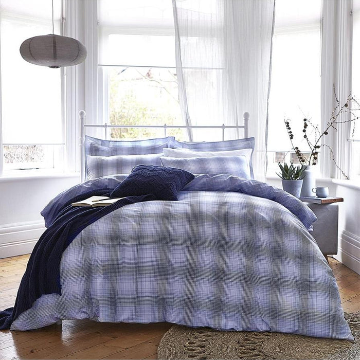 Duvet Cover, Bianca Cotton Soft, Bianca Cotton Soft Check Duvet Cover Set - from thebeddingbox.co.uk